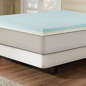 combination gel memory foam 3 inch mattress topper in blue With bed bath and beyond firm mattress topper