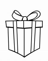 Present Christmas Coloring Pages Gifts Presents Gift Box Printable Getcoloringpages sketch template
