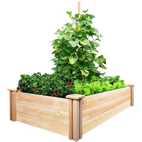 greenes fence raised garden bed greenes fence 2 ft x 4 ft x 10 5 in cedar raised garden