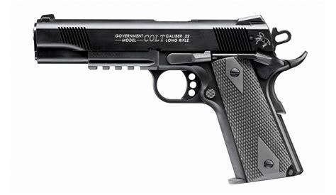 pistolet walther colt  rail gun  cal lr armes categorie  sur armurerie lavaux