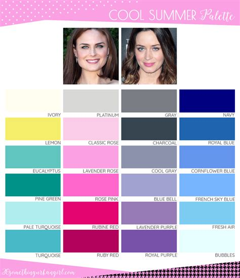 cool summer color palette are you a summer winter cool summer 30 something