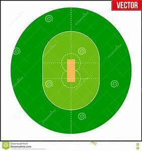 Cricket Field Vector Illustration Stock Vector