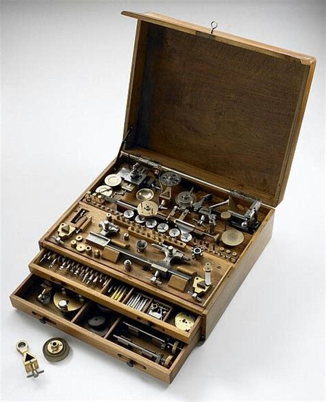 watchmakers toolbox tool box antique tools vintage tools
