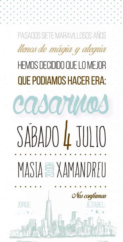 Invitaciones De Boda Texto, Datos, Ideas Originales