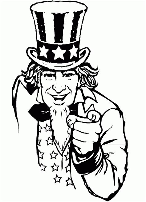 uncle sam coloring page coloring home