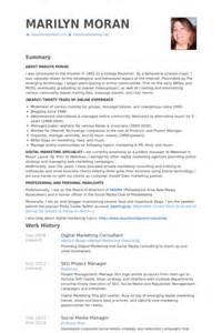 marketing consultant resume digital marketing consultant resume sles visualcv resume sles database
