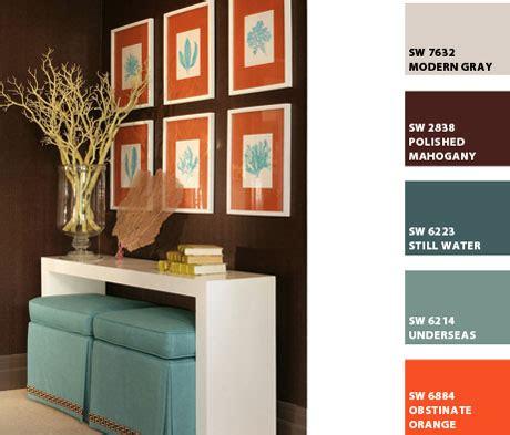 color palette interior turquoise and orange interior design color palettes