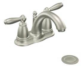 touch free faucets kitchen moen 6610bn brantford two handle low arc bathroom faucet