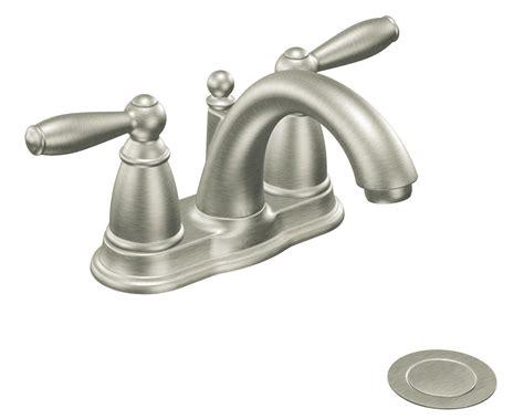 moen kitchen sink faucet moen 6610bn brantford two handle low arc bathroom faucet