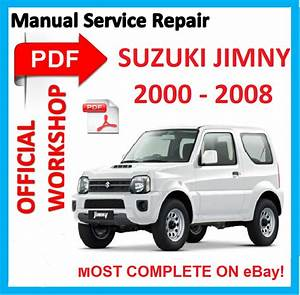 Official Workshop Manual Service Repair For Suzuki Jimny Sn413 Sn415d 2000