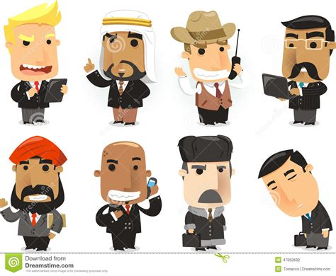 Finance Men Cartoon Stock Photo. Image Of Communications