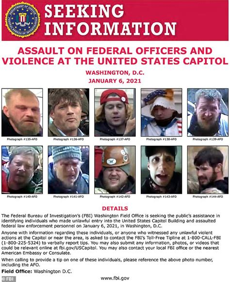 The FBI releases a new wanted poster for alleged riots in ...