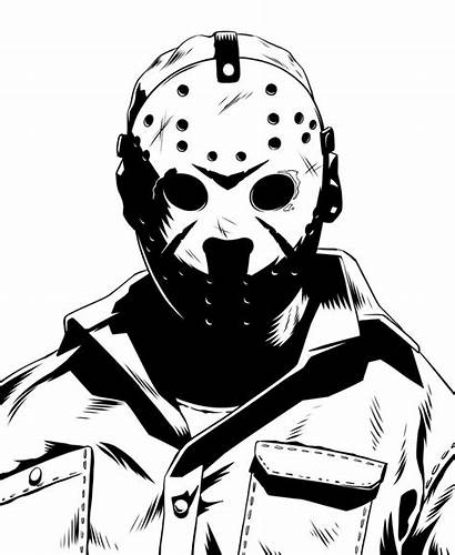 Jason Voorhees Drawing Horror Friday 13th Movies