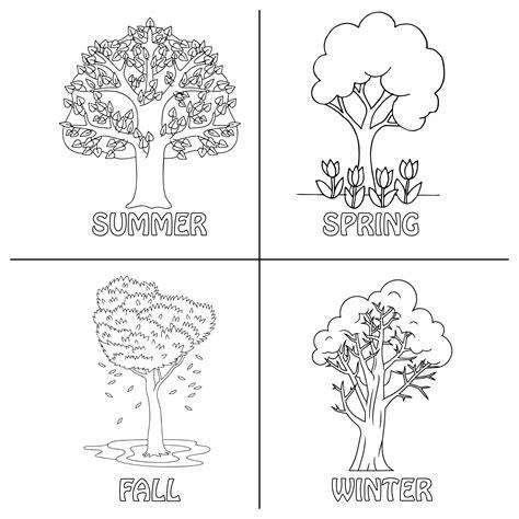 seasons preschool coloring pages printables printableecom