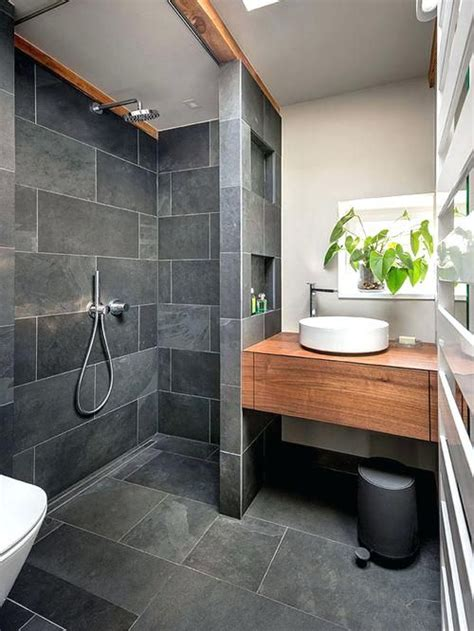 slate bathroom floor bathroom small contemporary   gray