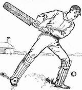Cricket Drawing Bat Coloring Clipart Outline Pages Batsman Sketch Games Template Printable Batting Etc Getdrawings Most Match sketch template