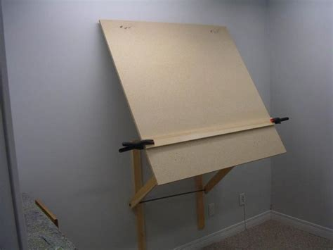 plans  diy large wall mount easel wetcanvas desks