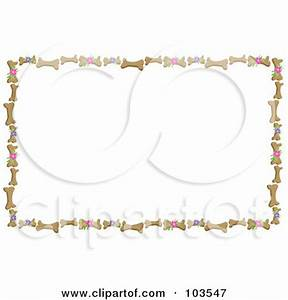 Royalty-Free (RF) Clipart Illustration of a Border Of Dog ...