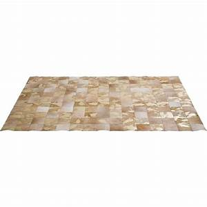Tapis Cuir Patchwork : tapis patchwork vegas cuir 170x240cm kare design ~ Teatrodelosmanantiales.com Idées de Décoration