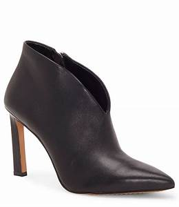 What Is My Size Chart Vince Camuto Sestrind V Throat Leather Booties Dillard 39 S