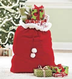 velvet gift santa sack with cord drawstring furniture storage