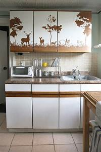 best 25 contact paper cabinets ideas on pinterest With kitchen colors with white cabinets with biohazard stickers