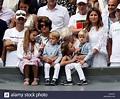 Charlene Riva Federer, Myla Rose Federer, Lenny Federer, Leo Federer Stock Photo: 148693805 - Alamy