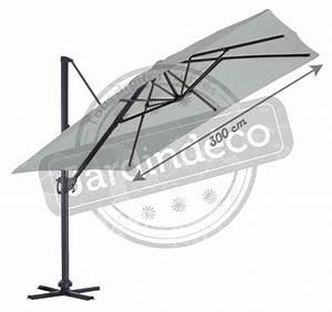 Parasol Déporté Aluminium : parasol mat d port en aluminium luxe king 3x3 m gris anthracite ~ Teatrodelosmanantiales.com Idées de Décoration
