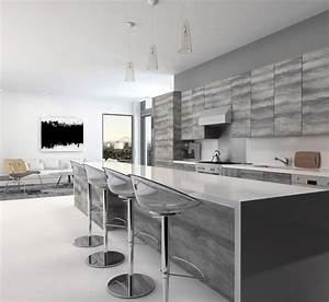 cuisine grise la cuisine tendance en 40 modeles gris With plan de travail cuisine gris anthracite