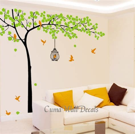 wall mural decals nature tree wall decals birds nature vinyl wall decals wall decal