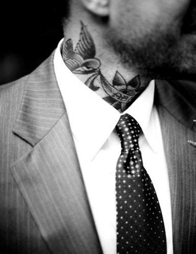 SO HOT WHEN NECK TATTOOS PEAK OUT OF A BUTTON UP SHIRT | Suits, tattoos, Picture tattoos