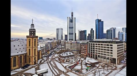Frankfurt Germany Winter In The City Only Sights