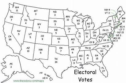 Electoral Map Blank College Printable Maps Election