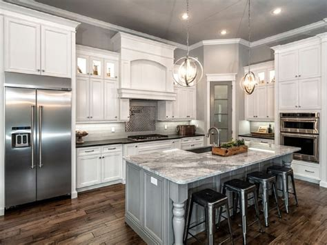 gray and white kitchen ideas l shaped kitchen remodel with white cabinet and