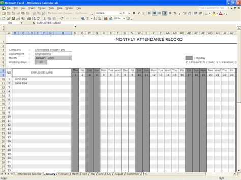 Record Template In Excel by 36 General Attendance Sheet Templates In Excel Thogati