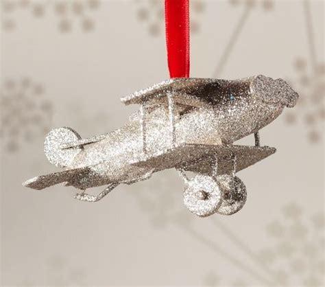 glitter airplane ornament christmas tree ornaments