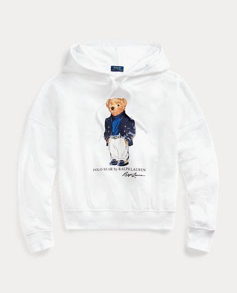 The latest clothing, shoes, accessories & beauty. Polo Bear Fleece Hoodie in 2020 | Ralph lauren hoodie ...