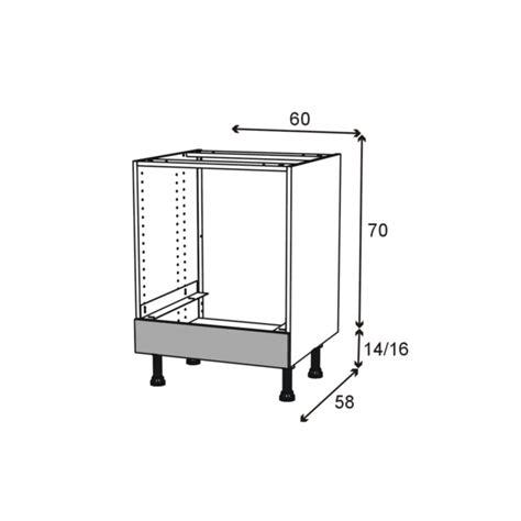 cuisine oskab meuble bas four bandeau bas l60xh70xp58 stilo noyer