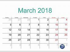 2018 March Calendar Printable In PDF Format Printable