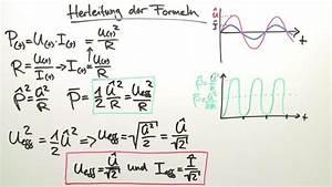 Unterschied Wechselstrom Gleichstrom : effektivwert von wechselstrom und wechselspannung physik online lernen ~ Frokenaadalensverden.com Haus und Dekorationen