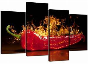 Large red chilli kitchen canvas wall art pictures 130cm for Kitchen colors with white cabinets with wall art large canvas prints