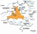 Austria Map Salzburg