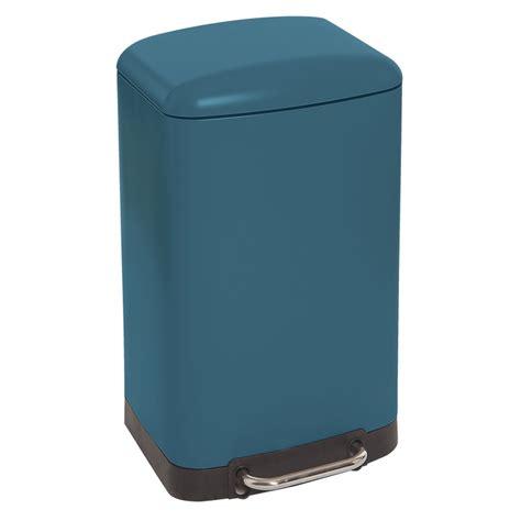poubelle cuisine pedale poubelle rectangulaire à pédale 30l bleu mat maison futée