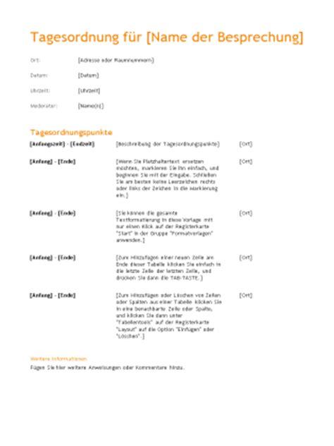 tagesordnung fuer geschaeftliche besprechung design orange