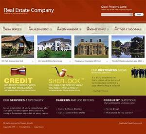 real estate website template 9696 With real estate company profile template