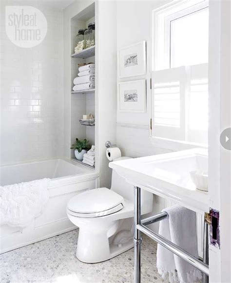 All White Bathroom Ideas by Bathroom Decor All White Bathroom Makeover Style At Home