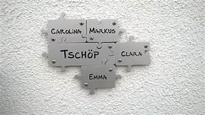 Türschilder Holz Familie : puzzle t rschild aus aluminium f nfteilig froschk nig ~ Lizthompson.info Haus und Dekorationen