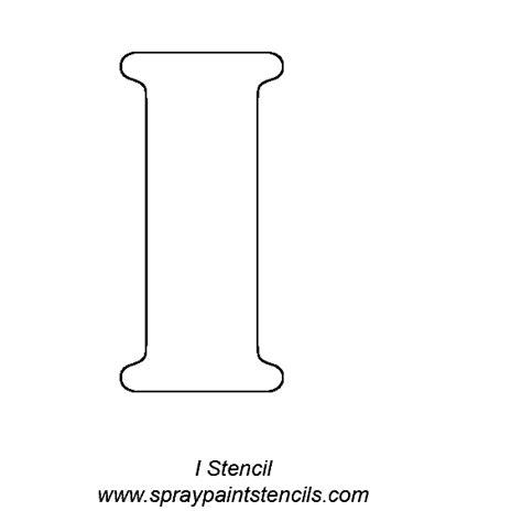 block letter i alphabet letter stencils 43788