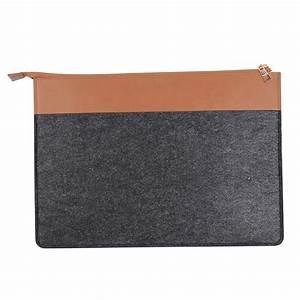 hot fashion leather folder felt document organizer folder With leather document files bags
