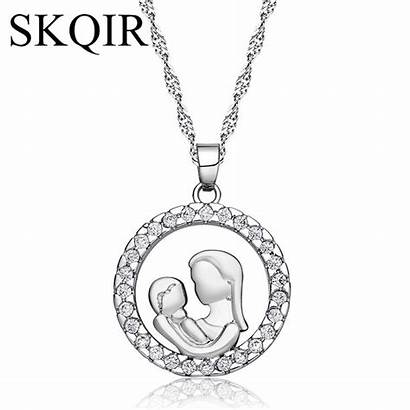 Mother Mum Pendant Jewelry Gold Heart Necklaces